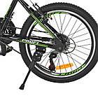 Спортивный велосипед колеса 20 дюймов PROFI G20FIFA A20.2 черно-зеленый, фото 5