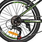 Спортивный велосипед колеса 20 дюймов PROFI G20FIFA A20.2 черно-зеленый, фото 6
