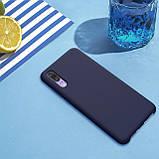 Nillkin Huawei P20 Flex Pure Case Blue Силиконовый Чехол, фото 7