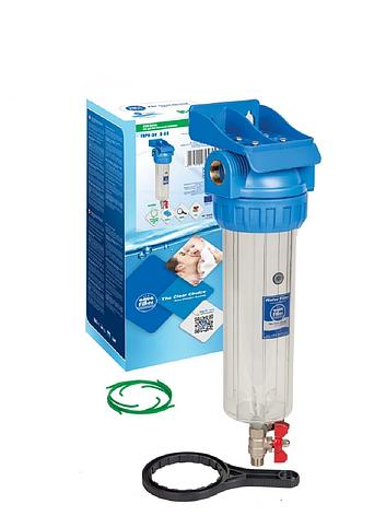 """Корпус фільтра промивної для холодної води 10"""" AquaFilter FHPR34-3V_R 3/4"""" комплект, фото 2"""