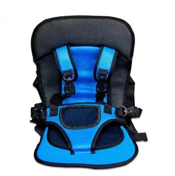 Детское автокресло Multi Function Car Cushion | Бескаркасное автокресло детское | Синее