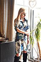 Платье- рубашка женское на резинке