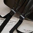 Рюкзак кожаный женский с брелком мишка черный Ginva., фото 6