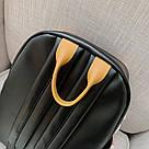 Рюкзак кожаный женский с брелком мишка черный Ginva., фото 4