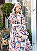 Платье женское своротником-стойкой