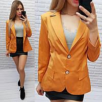 Жакет  /пиджак  ветровка больших размеров на подкладе , модель S1082 пряная горчица / горчичный
