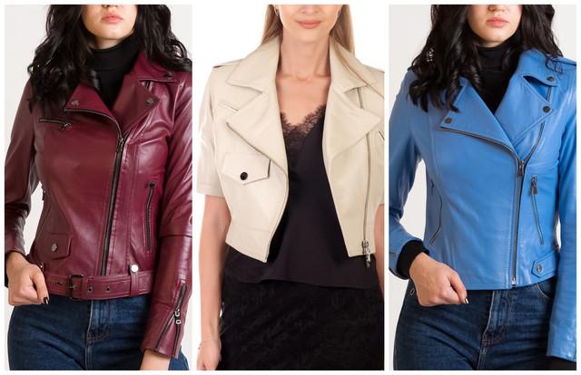 укороченные кожаные куртки