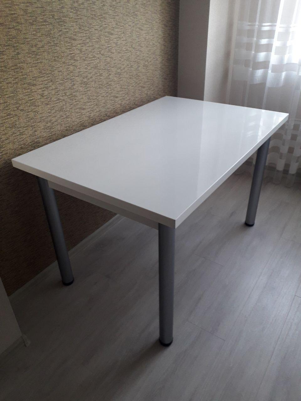 Стіл кухонний білий пластик (120х80х75 см)