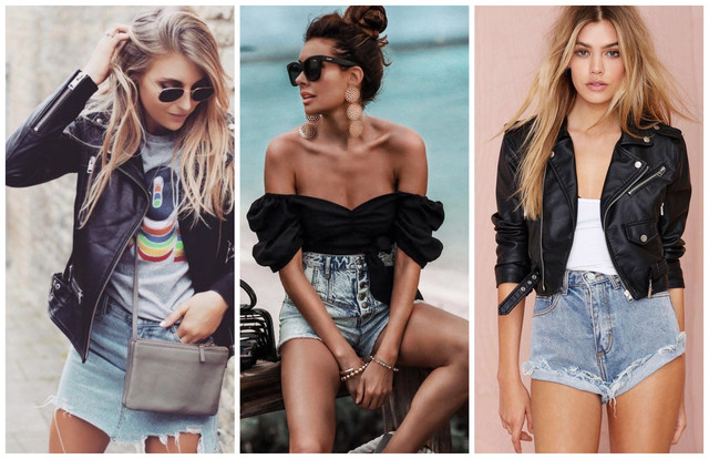 косуха летом джинсовые шорты