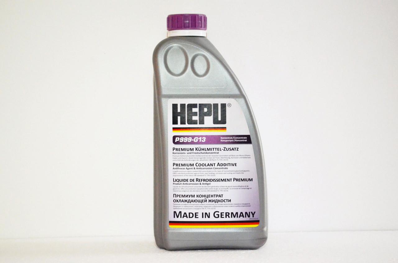 Антифриз HEPU G13 концентрат (-80) 1,5 л. фіолетовий