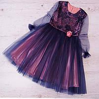 Р.128-152 детское платье Анетта