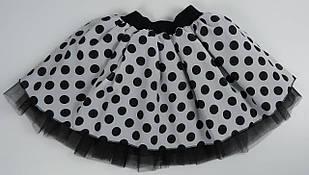 Пышная юбка в стиле Стиляги в горох для девочки M-XXL р