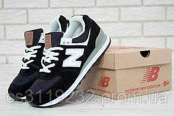 Женские кроссовки New Balance 574 (черные)