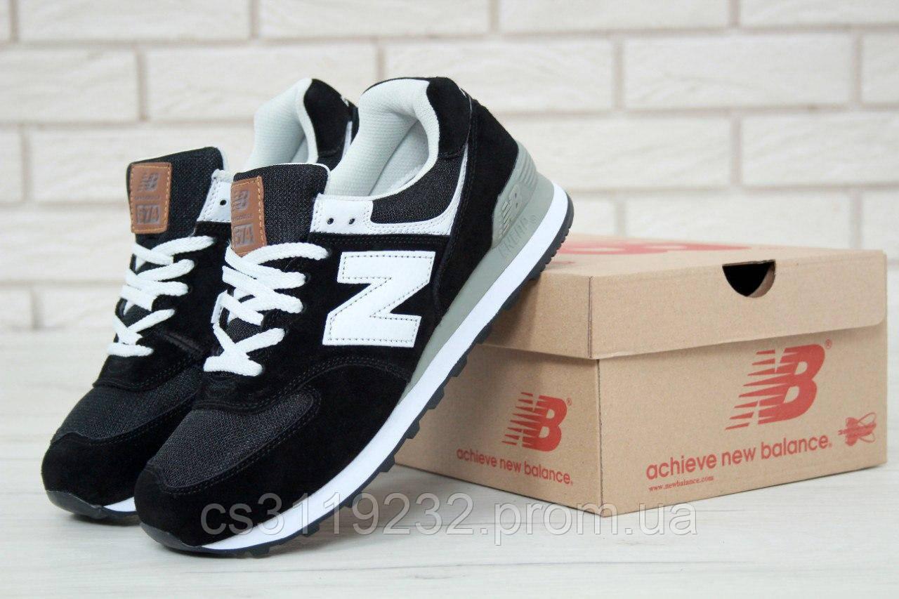 Жіночі кросівки New Balance 574 (чорні)