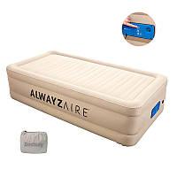 BW Велюр кровать 69037 (1шт) 203-152-51см,серый,встроенный насос 220-240V, сумка,ремкоплект, в кор-к