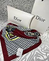 Брендовый шёлковый платок в стиле Dior