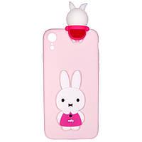 Чехол Cartoon 3D Case для Apple iPhone XR Кролик
