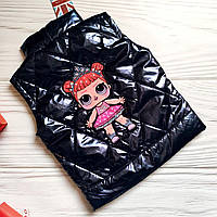 Демисезонная  жилетка для девочки с куклами Лол (LOL).