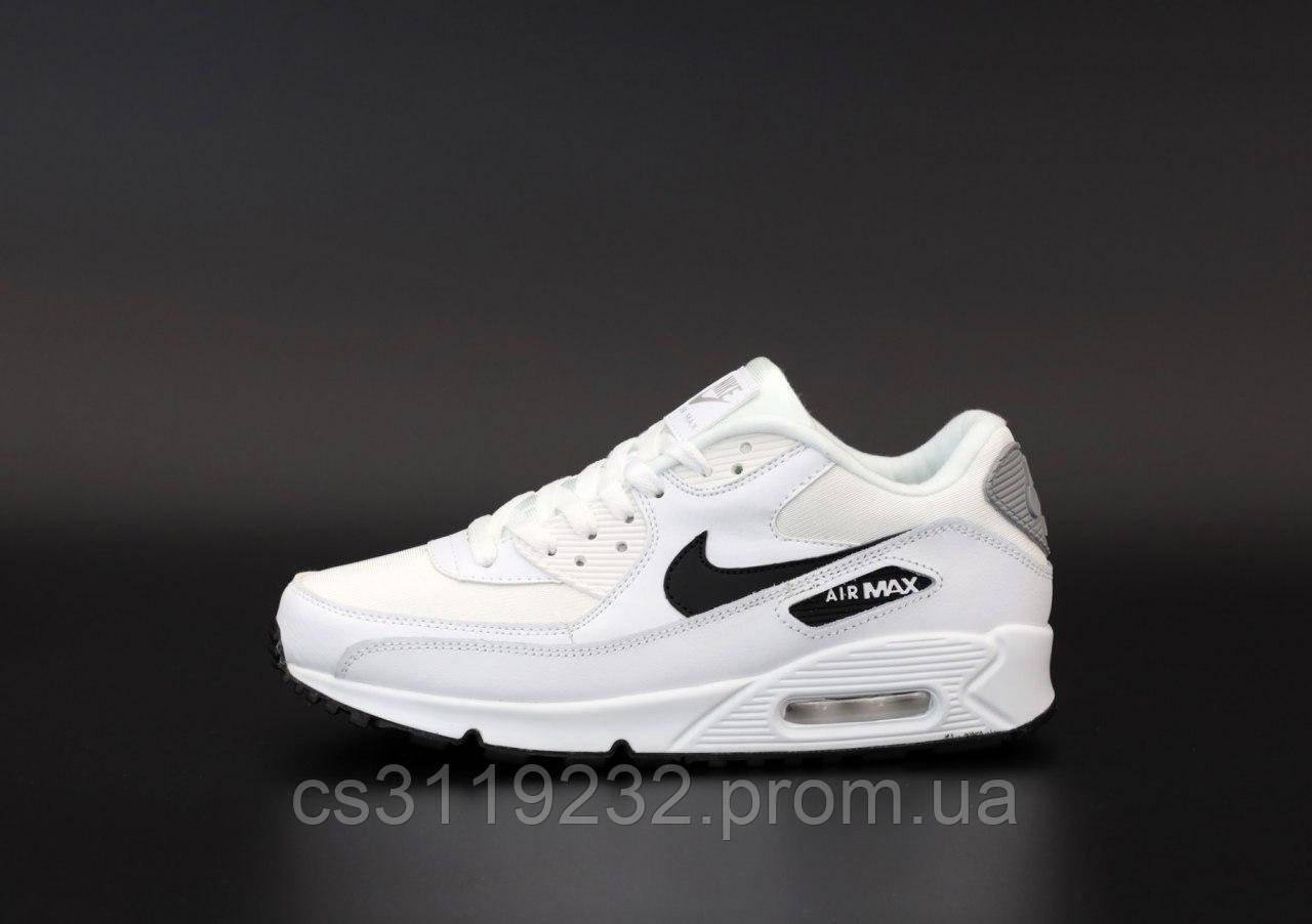 Мужские кроссовки  Nike Air Max 90 White (белые)