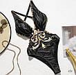 Злитий Купальник чорний в стилі бароко, фото 3