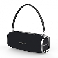 Мощная портативная беспроводная bluetooth стерео колонка HOPESTAR A6 ORIGINAL 35W Sound System черная