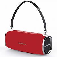 Мощная портативная беспроводная bluetooth стерео колонка HOPESTAR A6 ORIGINAL 35W Sound System красная