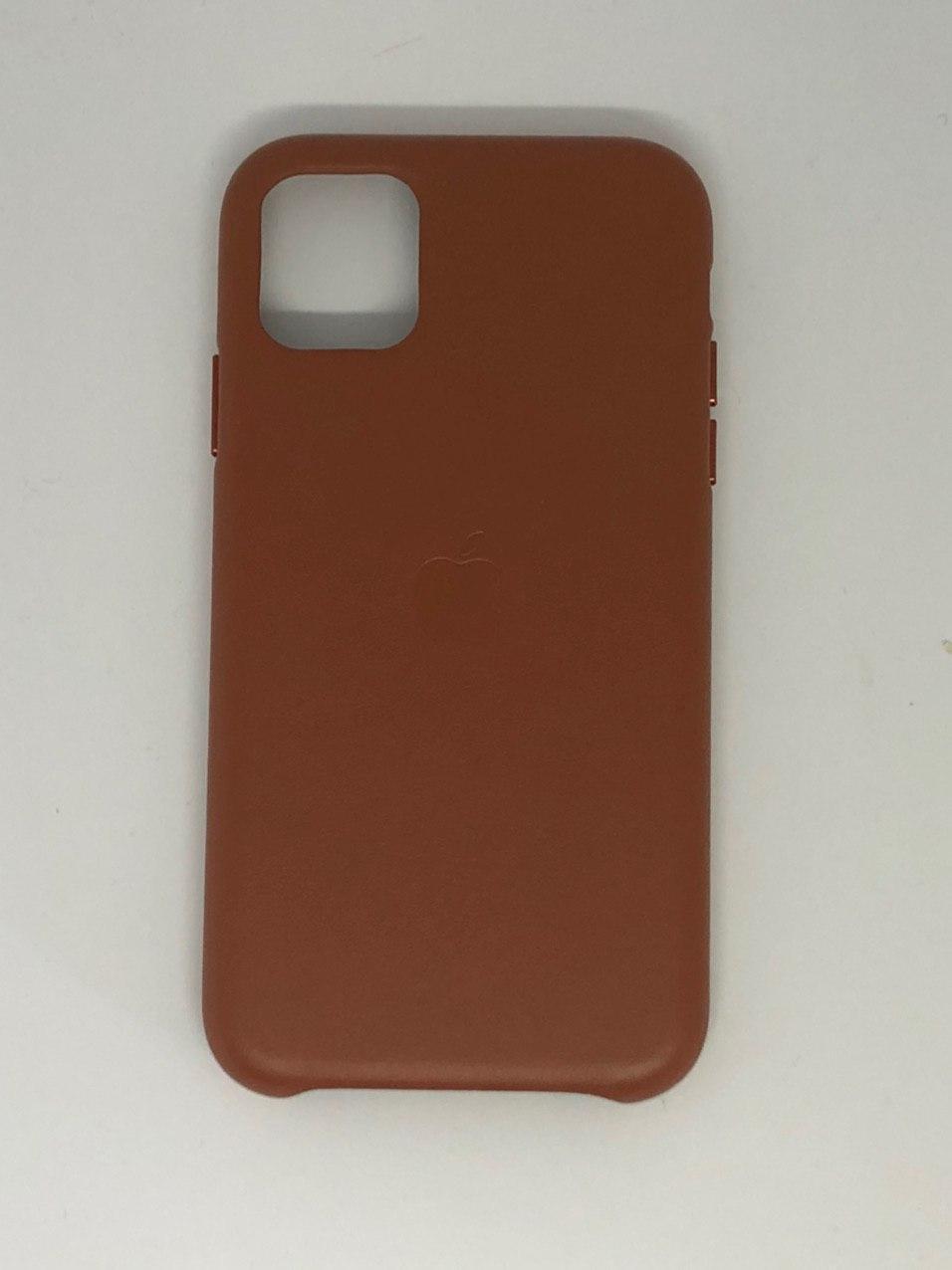 """Кожаный чехол для телефона iPhone 11 """"Коричневый"""""""