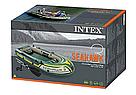 Лодка надувная Intex 68380 трехместная с насосом и веслами, фото 8