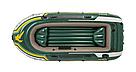 Лодка надувная Intex 68380 трехместная с насосом и веслами, фото 9