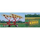 """Колісно–пальцеві граблі-ворушилки, валкувачі серії «H 90» """"V""""-типу, фото 2"""