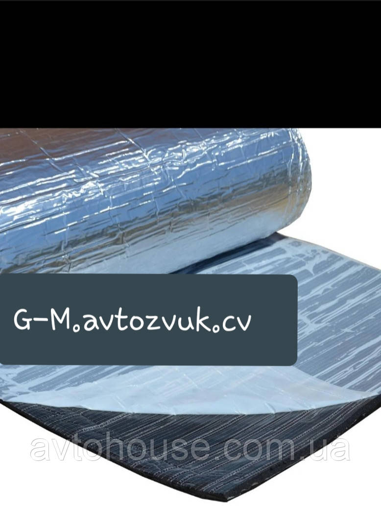 Тепло-шумоизоляция из вспененного каучука с фольгой 10мм