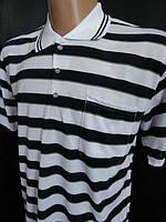 Стильная мужская футболка (тенниска) в полоску. С воротником , фото 1