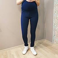 Бенгалиновые брюки для беременных синие 2304-1