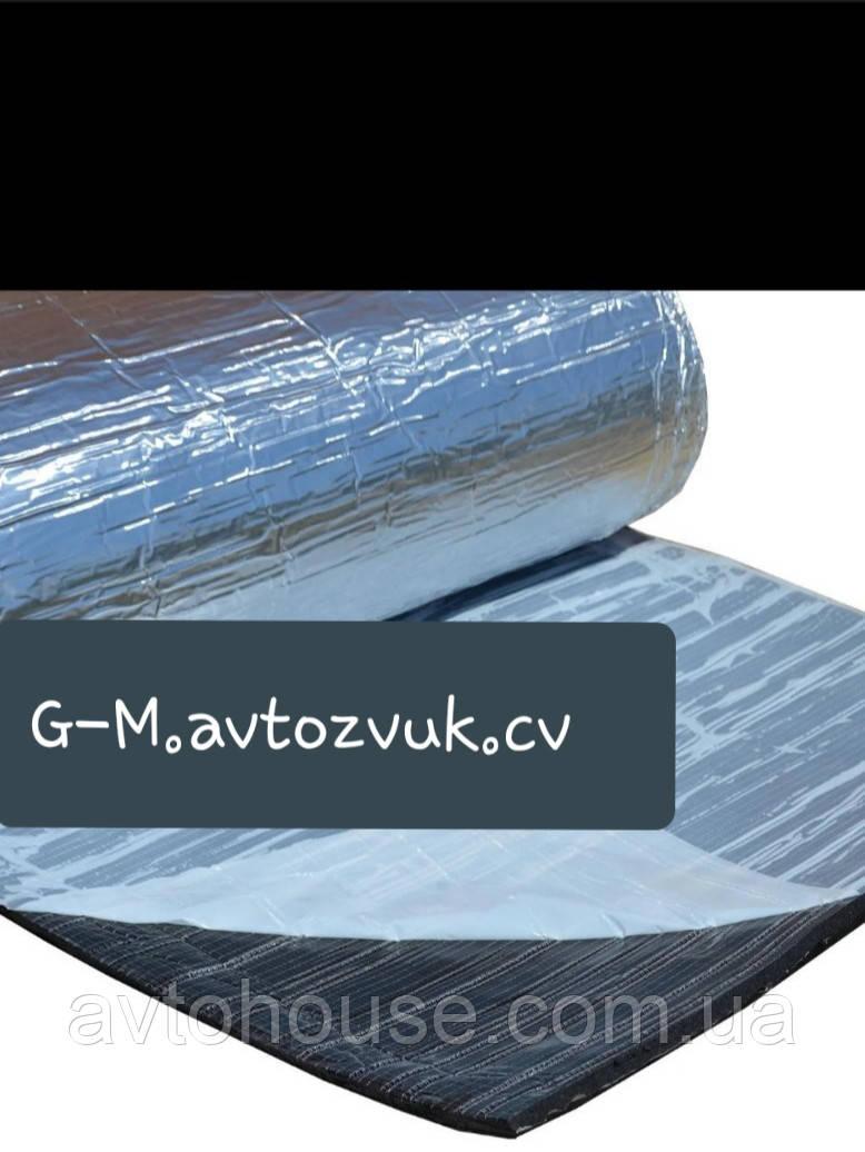 Тепло-шумоизоляция из вспененного каучука с фольгой 6 мм