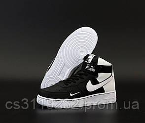 Мужские кроссовки Nike Air Force 1 High Black White (черно-белые)
