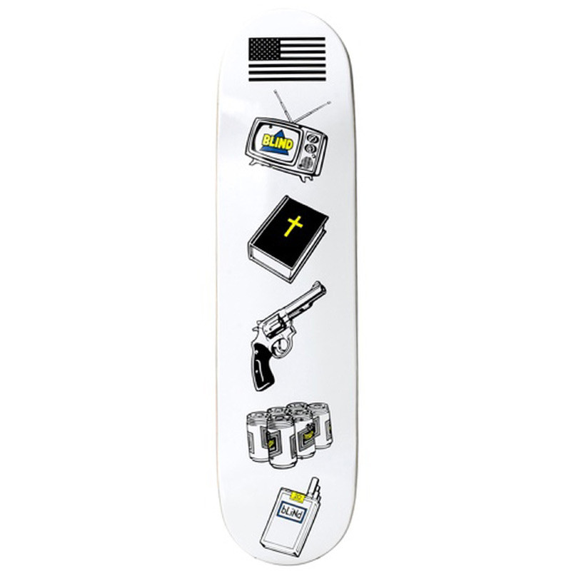 Дека Blind American Icons Wht 8.0