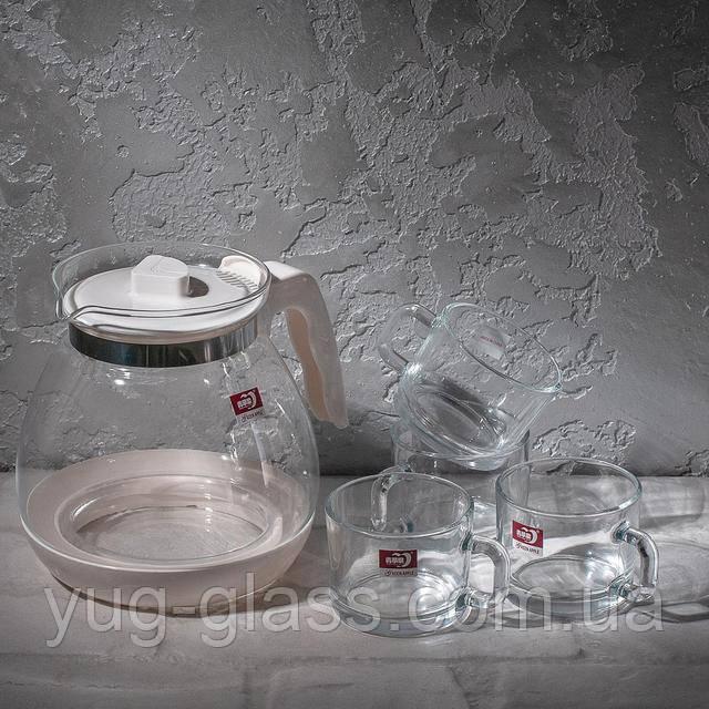 сервиз чайный стеклянный