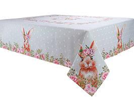 Скатерть гобеленовая Кролик 180х140 см мятная
