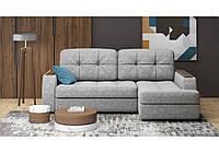 Розкладний кутовий диван у сірій якісній тканині Лагуна