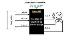 DRV8833, драйвер двигателя, HTSSOP16