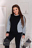 Жіночий двоколірний трикотажний спортивний костюм великих розмірів р. 50-60. Арт-1850/3