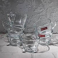 Набір скляних чашок 220 мл з трикутним дном 6 шт.