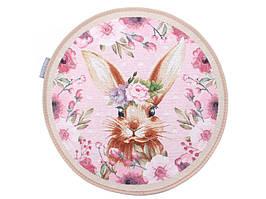 Набор из 2 гобеленовых салфеток Кролик 36 см розовые