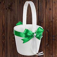 Свадебная корзинка для лепестков роз, зеленый цвет, 22*10,5*9,5 см (арт. 0797-10)