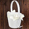 Свадебная корзинка для лепестков роз, айвори цвет, 22*10,5*9,5 см (арт. 0797-12)