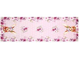 Раннер гобеленовый Кролик розовый 140х40 см