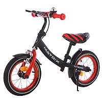 ХИТ Детский беговел (велобег),Tilly Balance T-21259 Matrix Red, черно-красный 11/38.4