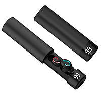 Беспроводные наушники Bluetooth HBQ Q67 c уровнем заряда кейса ORIGINAL Black