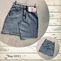 Юбка джинсовая молодежная для девушекваренка размеры 34-40, голубого цвета