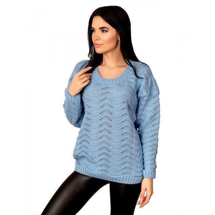Модный ажурный свитер 44-48 размер
